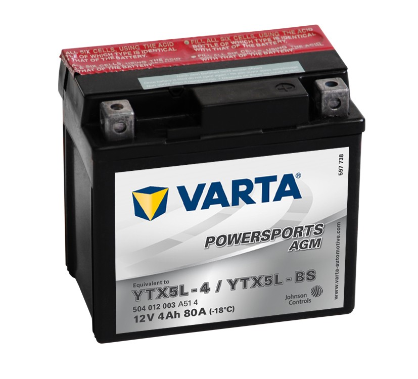 POWERSPORTS AGM 4Ah 12 V